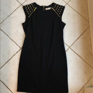 Michael Kors Black and Gold Studded Dress - M